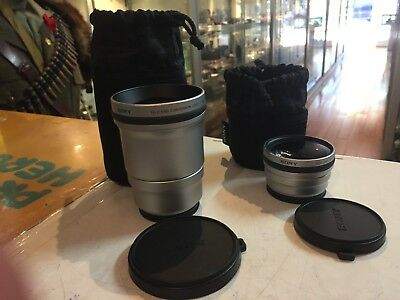 Sony (Vcl-Deh17V ) Tele End Conversion Lens & Sony (Vcl-Deh07V) Tele End Convers
