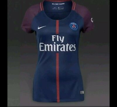 c5d61f20e Nike Paris Saint Germain PSG Soccer Jersey 2017 Fly Emirates Womans Size-XS  -XL
