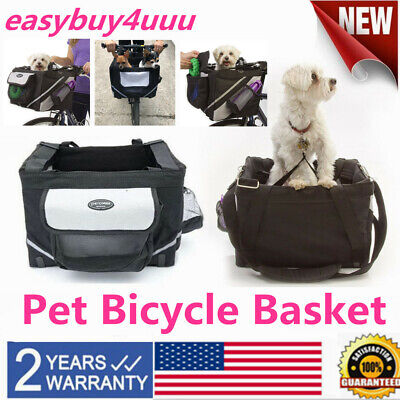 Pet Store Dog & Cat Pet Bike Bicycle Basket Foldable Detachable Travel Carrier