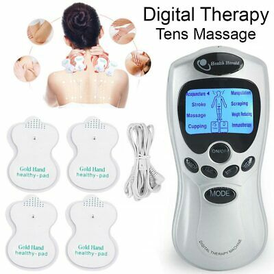 TENS Machine Digital Therapy Body Massager Electro Stimulator Muscle Train Relax