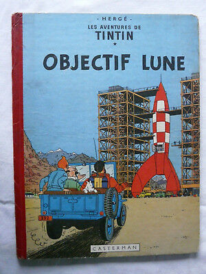 Tintin Objectif lune EO Française 1953 ABE/BE