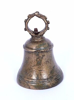 Nice Antique Indian Handcrafted High Aged Brass ritual Bell, Good Sound. i9-1 AU