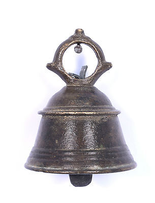 Antique Authentic Indian Handcrafted High Aged Bronze Temple Bell. i9-20 AU