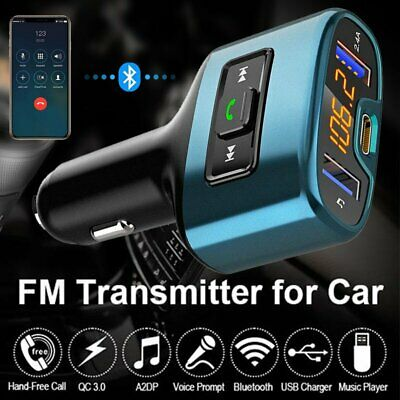 5V FM Transmitter Wireless Bluetooth Car Kit Radio Adapter Type-C USB Charger AU