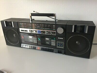 Boombox TENSAI CPW50 FULLY SERVICED NEW BELTS DETACHABLE SPEAKERS DUAL DECK