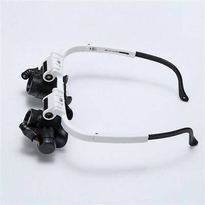Head Wearing Repair Jeweler Watch Clock Magnifier Glass With LED Light UK