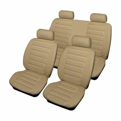 Beige Leather Look Set Front & Rear Car Seat Covers for Jaguar XJS All Years