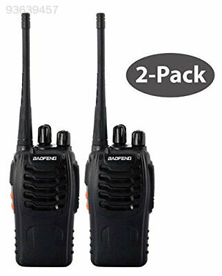 A78A 2pcs Walkie Talkie UHF 400-470MHZ 16CH 5W VOX Monitor BF-888S UK Adapter