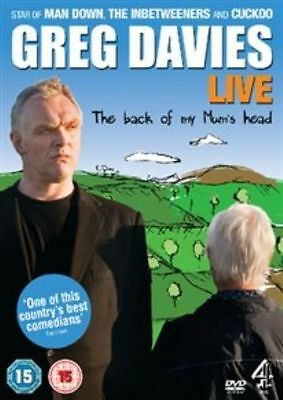 Greg Davies Live! The Back Of My Mum's Head Dvd Brand New & Factory Sealed