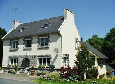 Family home + 2 gites, 2 acres - Huelgoat, Brittany.  OIEO £200k.  Swap consid!