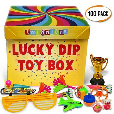 100 x Lucky Dip Box Prizes Classroom Party Bag Fillers Toys Pinata Loot Favour