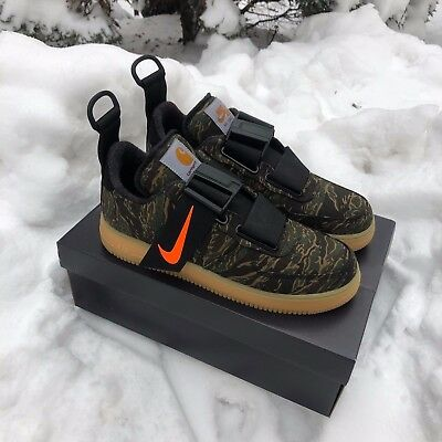 cb31b0b6f08fd NIKE AIR FORCE 1 UTILITY LOW PRM x CARHARTT WIP CAMO GREEN ORANGE GUM AV4112 -