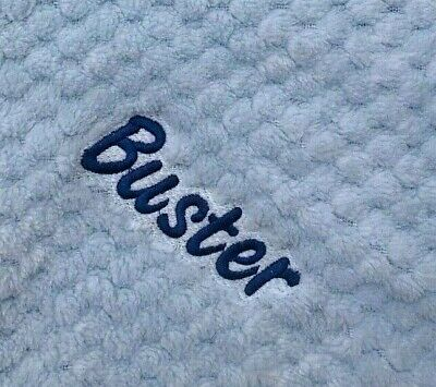 Personalised  embroidered BABY WAFFLE BLANKET 75CM-90CM 4 colours SUPER SOFT