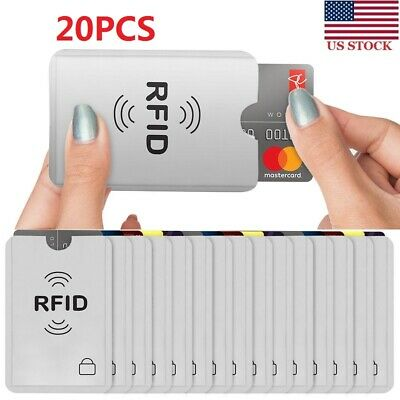20pc RFID Blocking Bank Credit Card IC Holder Case Cover Safety Sleeve Protector