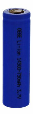 1x OEGE 14500 Lithium Ion Rechargeable Battery 3.7 V 750 mAh Fast Post