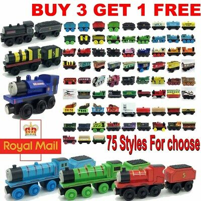The Tank Engine Tender Wooden Magnetic Railway Train Toy Truck Car Kids Gifts*