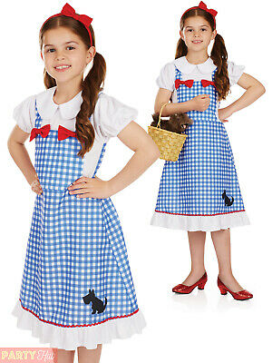 GIRLS DOROTHY COSTUME Fairytale Character Fancy Dress Kids Book Week Outfit