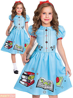 Girls Book Worm Costume World Book Day Character Kids Fancy Dress Outfit