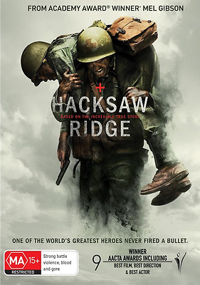 Hacksaw Ridge (DVD, 2017) NEW