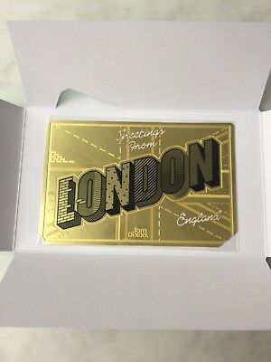 Tom Dixon LONDON bookmark brass new BNIB