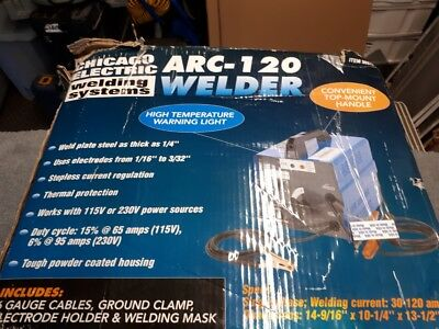 Electric welder Chicago Arc welding systems 120 volts cut 1/4 steel. New never u