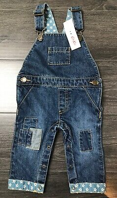 BNWT Cath Kidston Baby Denim Dungarees 6-12 Months Rrp £26