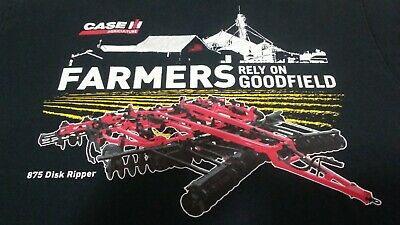 Vintage Case IH Agriculture Farmer's Rely On Goodfield T-Shirt Size Medium