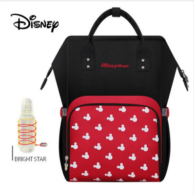 d282d888de79e Disney sac à dos pour couches USB Bouteille sacs d isolation Minnie Mickey  Grand