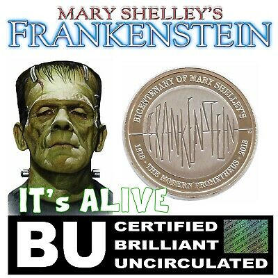2018 Frankenstein Two Pound £2 Coin Certified BU Brilliant Uncirculated Coin