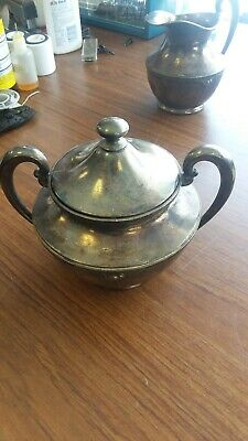 ANTIQUE SUPERIOR S.P. CO. # 7015 SILVER-PLATE mini pot w/lid!!!
