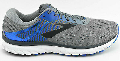 92e99fdcc014 Mens Brooks Adrenaline Gts 18 Running Shoes Size 12 Us 46 Eu Gray Blue White