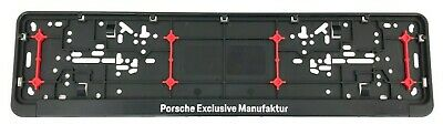 New Genuine Porsche Exclusive Manufatur Number Plate Surround Holder 99104480400