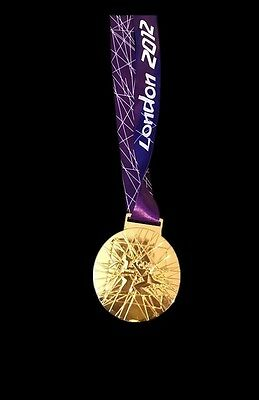 mi3 Gold London 2012 Olympics Style Medal With Lanyard Precise Gold Medal