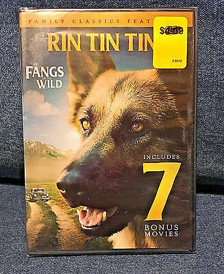 Rin Tin Tin Jr. in Fangs of the Wild: Includes 7 Bonus Movies (DVD, 2016)- New!