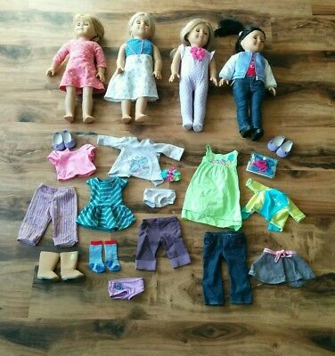 American Girl Doll Pleasant Company Large Lot of 4 Dolls w Clothes & Accessories