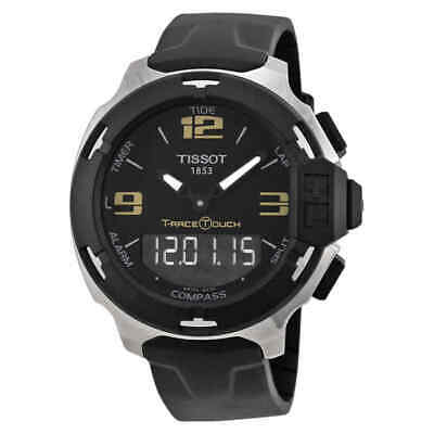 Tissot T-Race Touch Analog Digital Dial Black Synthetic Strap Men's Watch