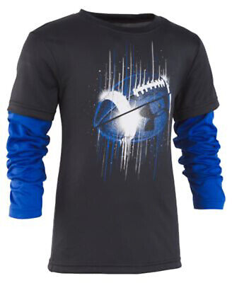 NEW Under Armour Toddler Boys Football-Print Layered Look T-Shirt, 2T, 3T