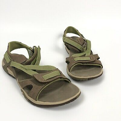 1865618d3dc7 Merrell Womens 8 39 Azura Strappy Sporty Hiking Sandals Otter Tan Brown  Green