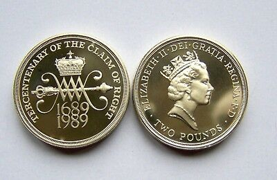 1989 proof  Two Pound,Claim of Right