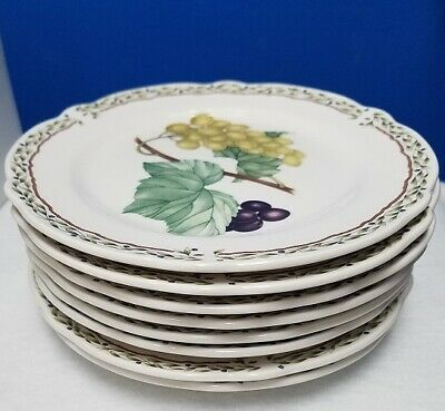 NORITAKE china ROYAL ORCHARD 9416 pattern bread plates SET OF 8