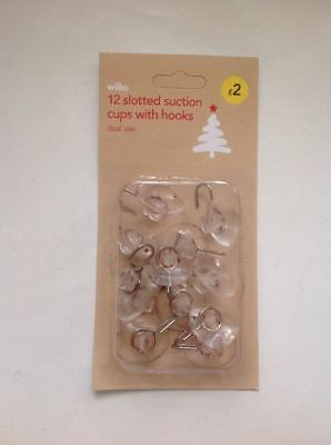 Trade Job -Lot Of 48 Packs Of 12 Slotted Suction Cups With Hooks