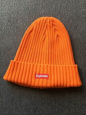 49ee4dc2d00 SUPREME OVERDYED RIBBED Beanie Hat SS18 (Washed Orange) -  60.00 ...