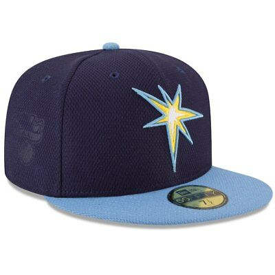 check out 8fcb6 2e103 New Era Tampa Bay Rays Blue Light Blue Diamond Era 59FIFTY Fitted Hat  Authentic