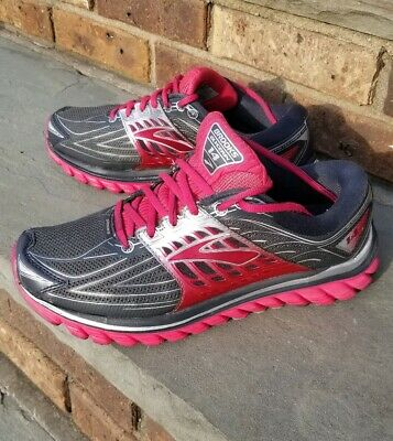 71b72e6a851 Mint Brooks Glycerin 14 Womens Size 8.5 40 D Wide Grey Pink white Running  Shoes