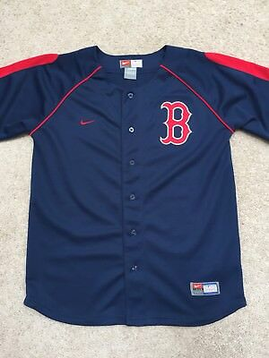 4c40c2e5098 YOUTH NIKE BOSTON Red Sox Button Front Jersey Size Large (16 18 ...