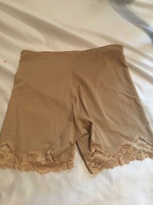 Vintage Flexees Girdle Panty Shorts Large Shaper Beige