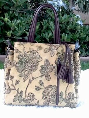 c1faed2cde57 APHISON DESIGNER UNIQUE Embossed Floral Cowhide Leather Tote Style ...