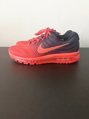 7dc2b58dc330 MEN S NIKE AIR Max 2017 Running Shoes Size 13 Crimson Black 849559 ...