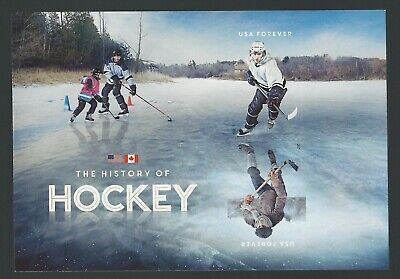 2017 History of Hockey sheet of two forever stamps Scott 5253c