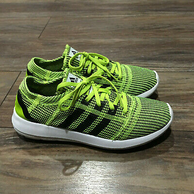 size 40 c67c6 ba0fb Womens ADIDAS ELEMENT REFINE TRICOT Lime Running Trainers M21533 ( Size 8.5  )